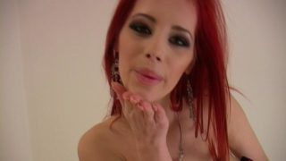 Flamy Redheaded Sex Industry Star Ariel Undressing Super-sexy Harness And Frolicking Along With Her Divine Jugs