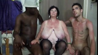 French Bbw 65yo Granny Olga Fucked By Two Men – Dp