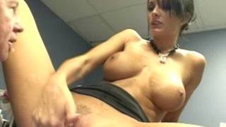 Hefty Boobed Assistant Alektra Blue Provides Hand Job And Bj Within The Administrative Center